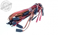 ESC and Servo Lead Y-Harness Wiring for BlitzRCWorks 5 CH Silver P-38 Lightning V2 RC Warbird Airplane