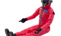 Global Aerojet 1:6 Red Highly Detailed Full Body Scaled Jet Pilot Figure