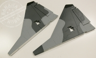 Gray Vertical Stab for BlitzRCWorks 12 CH Super MiG-29 RC EDF Jet