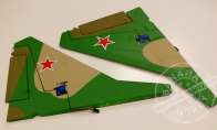 Green Camo Vertical Stab with 2 Servos with LED Light for BlitzRCWorks 12 CH Green Camo Super MiG-29 RC EDF Jet
