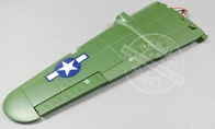 Green Left Wing with servos for Air Epic 6 CH Green B-25 Mitchell Bomber RC Warbird Airplane