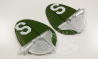 Green Vertical Stab Set for BlitzRCWorks 5 CH California Cutie P-38 Lightning V2 RC Warbird Airplane