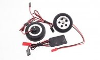 JP Hobby All-In-One Assembled Main Wheel Set (Diameter: 45mm Axle Shaft Size: 4mm) with JP Electric Braking System