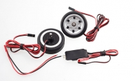 JP Hobby All-In-One Assembled Main Wheel Set (Diameter: 50mm Axle Shaft Size: 4mm) with JP Electric Braking System