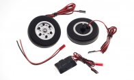 JP Hobby All-In-One Assembled Main Wheel Set (Diameter: 65mm Axle Shaft Size: 4mm) with JP Electric Braking System