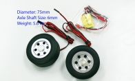 JP Hobby All-In-One Assembled Main Wheel Set (Diameter: 75mm Axle Shaft Size: 6mm) with JP Electric Braking System