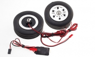 JP Hobby All-In-One Assembled Main Wheel Set (Diameter: 86mm Axle Shaft Size: 8mm) with JP Electric Braking System