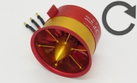 JP Hobby JP Hobby 105mm Clockwise Rotation Aluminum Alloy EDF w/ 8S Brushless Motor for HSDJETS 7 CH Red Super Viper 105mm RC EDF Jet