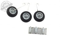 Landing Gear Set for BlitzRCWorks 3 CH Gray Mini F-16 RC EDF Jet