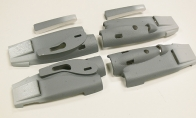 Left/Right Motor Compartment Set for BlitzRCWorks 5 CH Military Gray VTOL V-22 Osprey RC Warbird Airplane