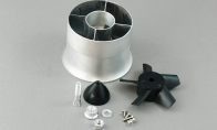 LX 70mm Metal EDF Unit for SU47/Mig29/A-10/F18/YF23/F4/T50 for BlitzRCWorks 7 CH YF-23 RC EDF Jet