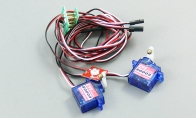 Main Wing Connection Set with Servos and LED for HSD 8 CH Gray J-10 V2 RC EDF Jet