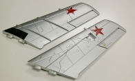 Main Wing (Silver) for BlitzRCWorks 3 CH Red Mini Mig-15 V2 w/ Gyro RC EDF Jet