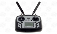 Microzone 10 Channel 2.4GHz MC-10 Programmable Radio Transmitter System Set for BlitzRCWorks 3 CH Silver Mini Mig-15 V2 w/ Gyro RC EDF Jet