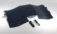Mid Wing for BlitzRCWorks 8 CH Super F4U Corsair V2 RC Warbird Airplane