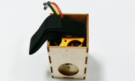 Motor Cabinet with 290KV Brushless Motor and Motor Shaft for BlitzRCWorks 8 CH Green Super P-40E Warhawk RC Warbird Airplane