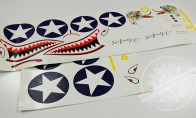 P-40E Camo Water Sticker for BlitzRCWorks 8 CH Camo Super P-40E Warhawk RC Warbird Airplane