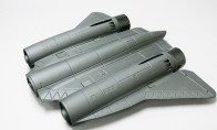 Painted Back Fuselage for BlitzRCWorks 6 CH SR-71 Blackbird V2 RC EDF Jet