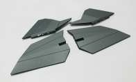 Painted Horizontal Stab and Vertical Stab Set for BlitzRCWorks 6 CH F-117 Stealth Fighter V2 RC EDF Jet