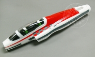 Red Fuselage with canopy,pilot,edf,motor for BlitzRCWorks 3 CH Red Mini Viper RC EDF Jet