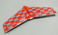 Red Horizontal Stab (Decals Applied) for BlitzRCWorks 3 CH Red Mini Viper RC EDF Jet