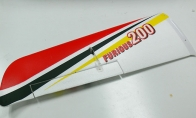 Red Left Main Wing for HSDJETS 4 CH Red Furious 200 RC Sport Airplane