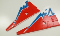 Red Vertical Stab for BlitzRCWorks 12 CH Red Super MiG-29 RC EDF Jet