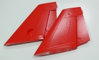 Red Vertical Stab for BlitzRCWorks 12 CH F/A-18F Super Hornet RC EDF Jet