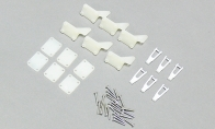 Screws, Horns and Clevises for BlitzRCWorks 5 CH Red Sky Trainer N9258 w/ Flaps 1400mm RC Trainer Airplane