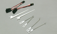 Set of Push Rods, Antennas and Y-harnesses for BlitzRCWorks 5 CH Blue Sky Trainer G-Kemy w/ Flaps RC Trainer Airplane