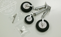 Upgraded Metal Landing Gear Set for HSD 4 CH Red Checker Viper 75mm / 4 CH Blue Viper 75mm / 4 CH Silver Viper 75mm RC EDF Jet