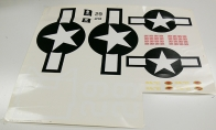 Water Decal Sheet for BlitzRCWorks 8 CH Super F4U Corsair V2 RC Warbird Airplane