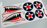 Water Sticker (A) for BlitzRCWorks 8 CH Green Super P-40E Warhawk / 8 CH Camo Super P-40E Warhawk RC Warbird Airplane