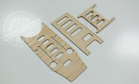 Wooden Mounting Boards for HSD 8 CH Gray Camo J-10 Vigorous Dragon RC EDF Jet