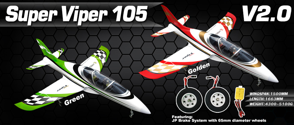 New Version 2 HSD Super Viper 105mm EDF Jet