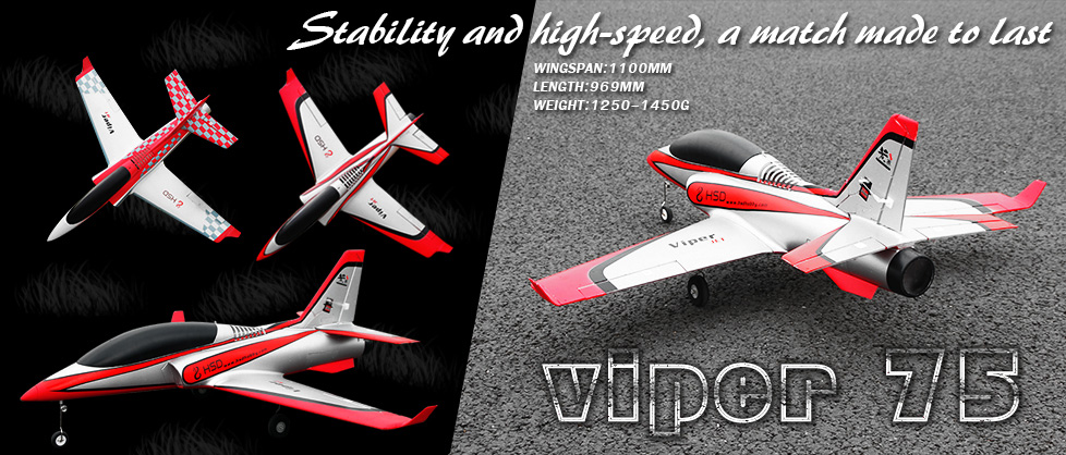 HSD 4 Channel 75mm Viper EDF Jet
