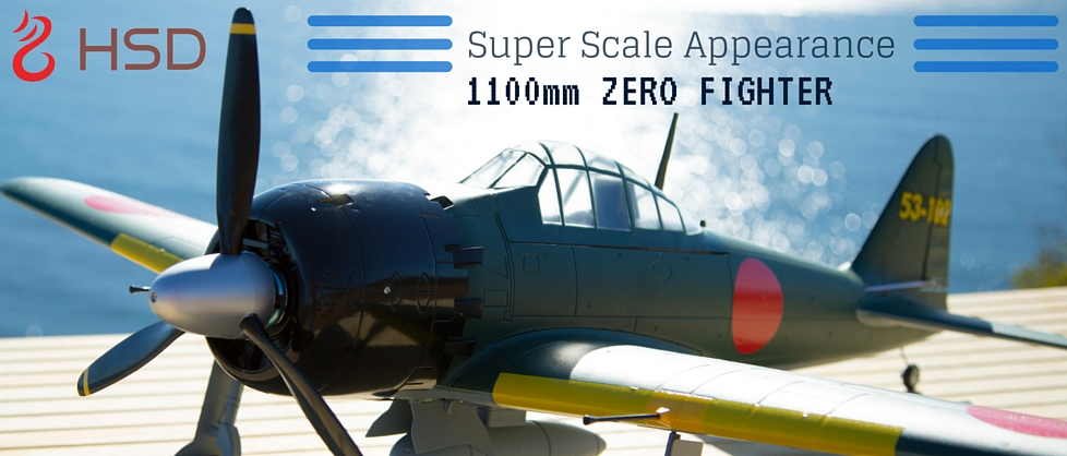 5 CH HSD 1100mm Zero Fighter RC Warbird Airplane