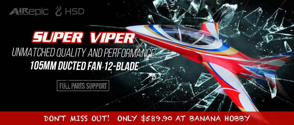 Available Now Air Epic | HSD Super Viper 105mm EDF Jet