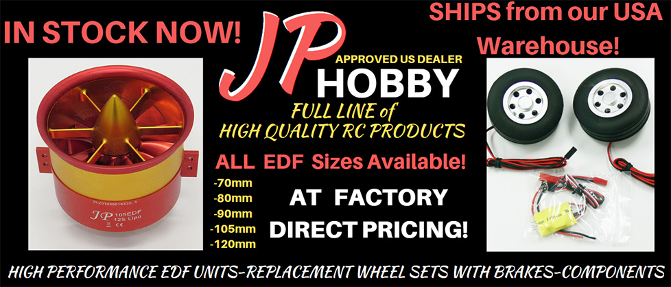 JP Hobby High Performance EDFs, Brakes, and Wheels Upgrades