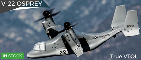 BlitzRCWorks VTOL V-22 Osprey RC Model Airplane In Stock Now!
