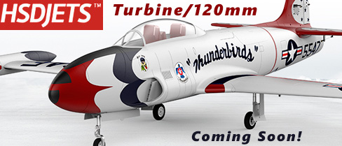 HSDJETS T-33 Turbine/120mm EDF Jet Coming Soon