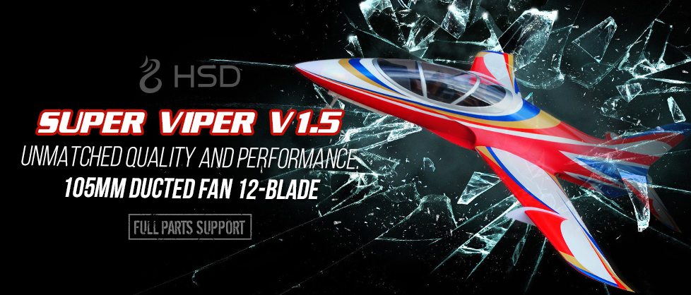 New Version 1.5 HSD Super Viper 105mm EDF Jet